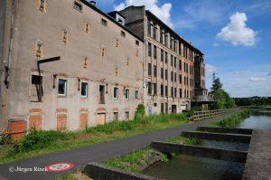 Fabrikgebäude am Saar-Kohlekanal in Sarreguemines